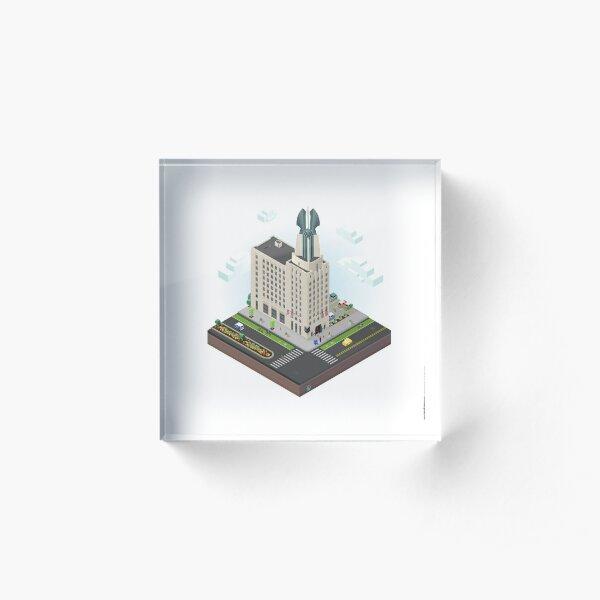 City Blocks: Times Square Building (Rochester, NY)  Acrylic Block