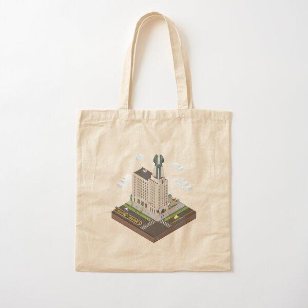 City Blocks: Times Square Building (Rochester, NY)  Cotton Tote Bag