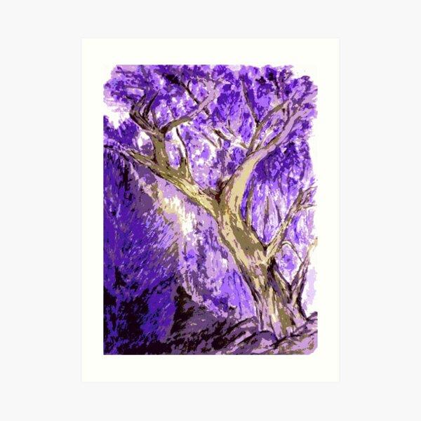 Rick's tree purple  Art Print