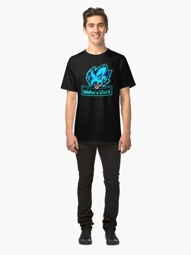 Alternate view of Super Sayan Blue Classic T-Shirt