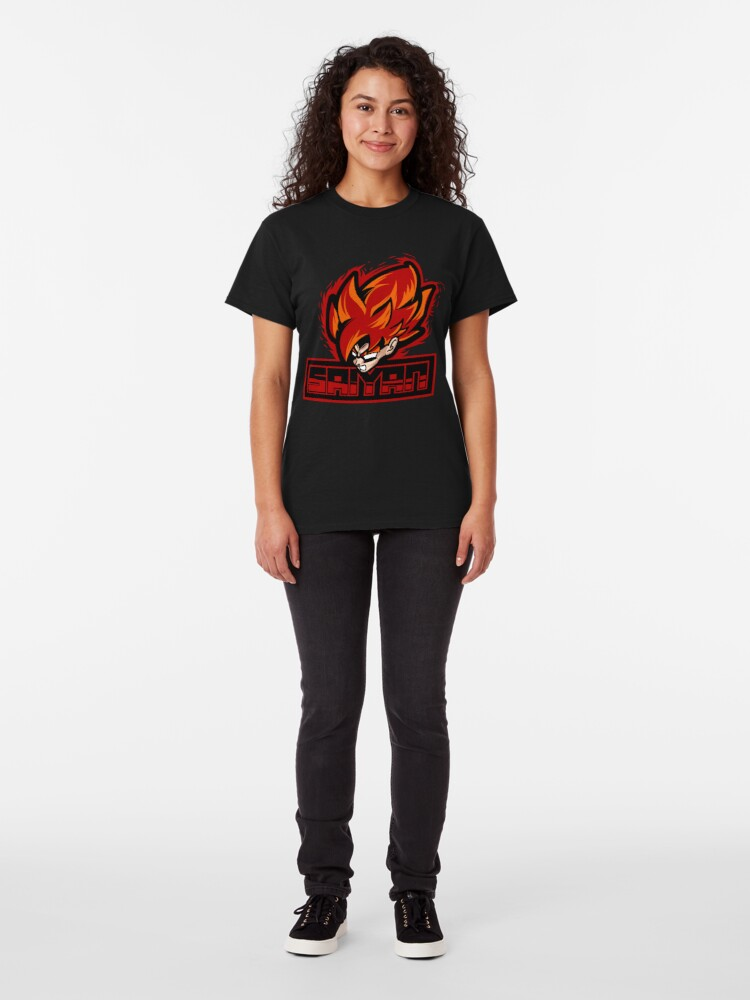 Alternate view of Super Sayan Red Classic T-Shirt