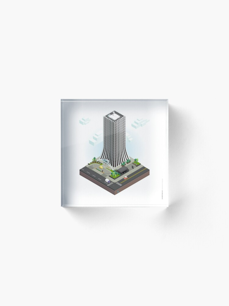 Alternate view of City Blocks: The Metropolitan Building (Rochester, NY)  Acrylic Block