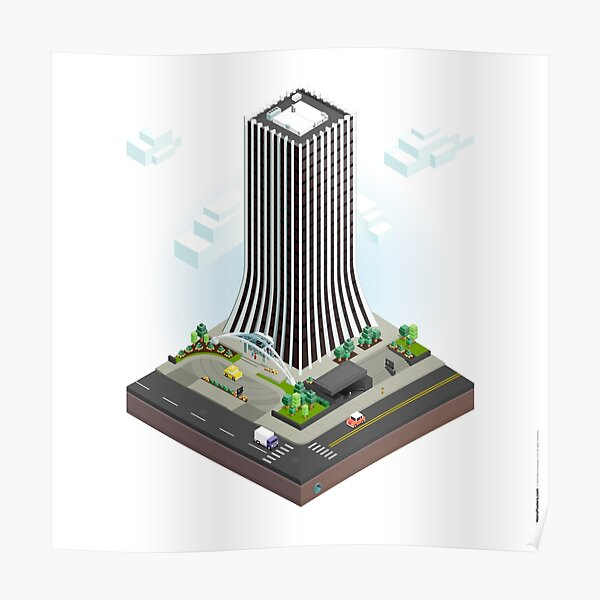 City Blocks: The Metropolitan Building (Rochester, NY)  Poster