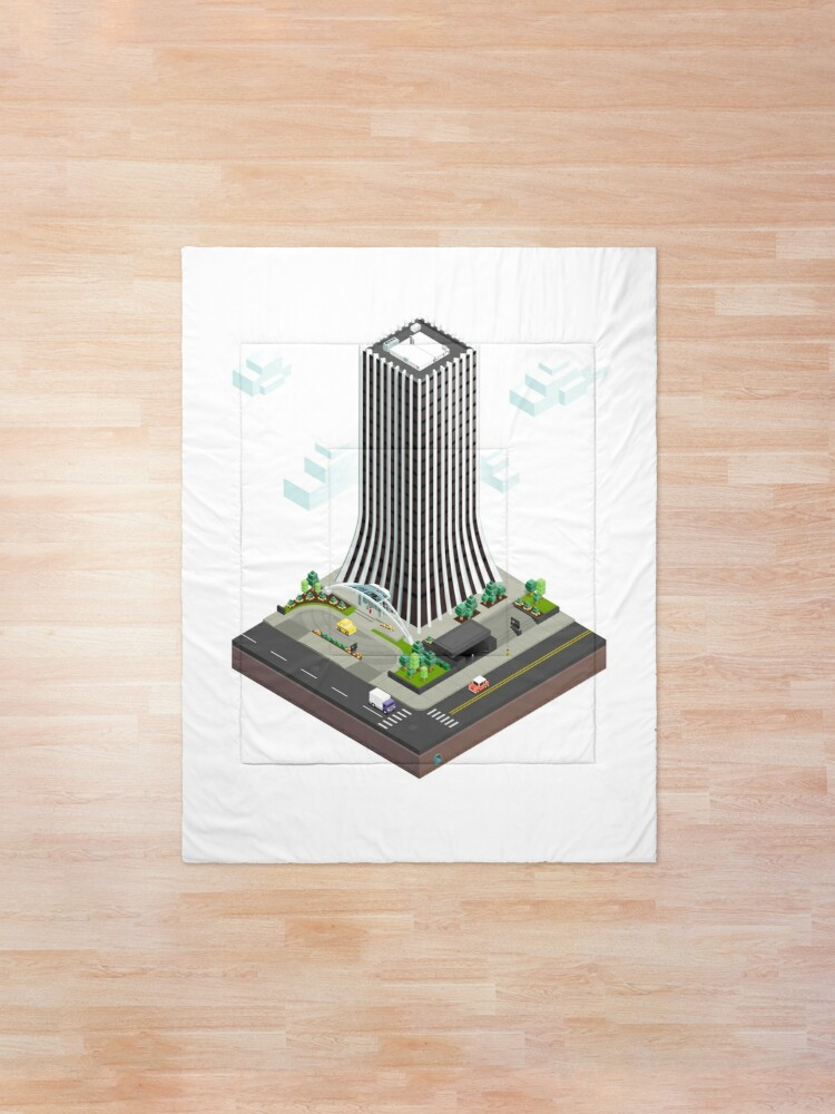 Alternate view of City Blocks: The Metropolitan Building (Rochester, NY)  Comforter