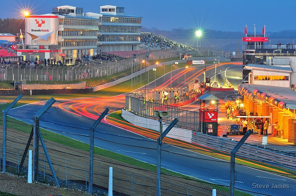 Brands Hatch Race Into The Night by Steve James