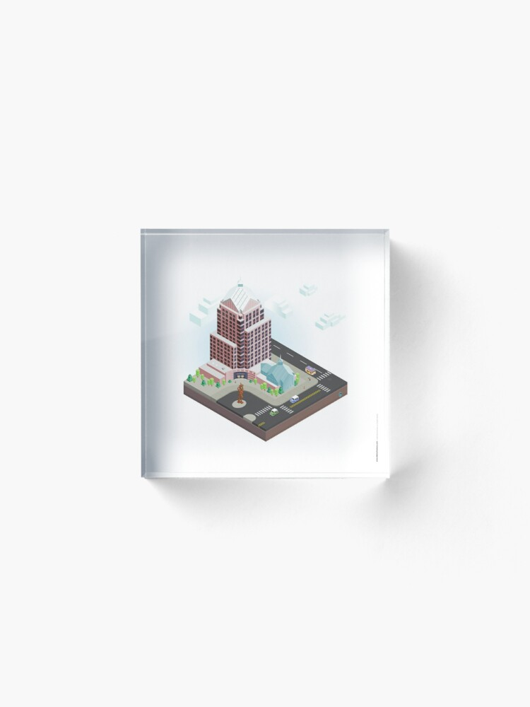 Alternate view of City Blocks: Legacy Tower (Rochester, NY) Acrylic Block