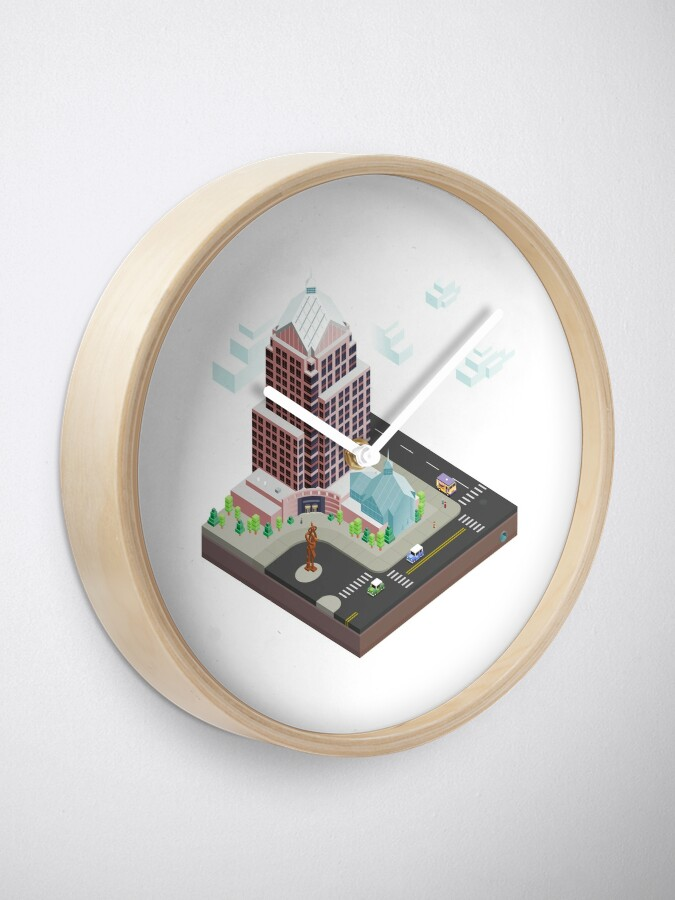 Alternate view of City Blocks: Legacy Tower (Rochester, NY) Clock