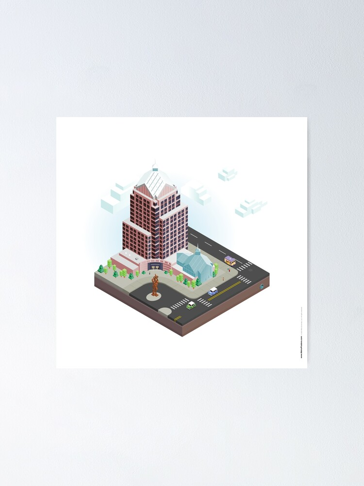 Alternate view of City Blocks: Legacy Tower (Rochester, NY) Poster