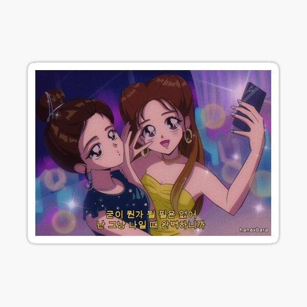 ITZY Yuna & Lia - Wannabe Pegatina