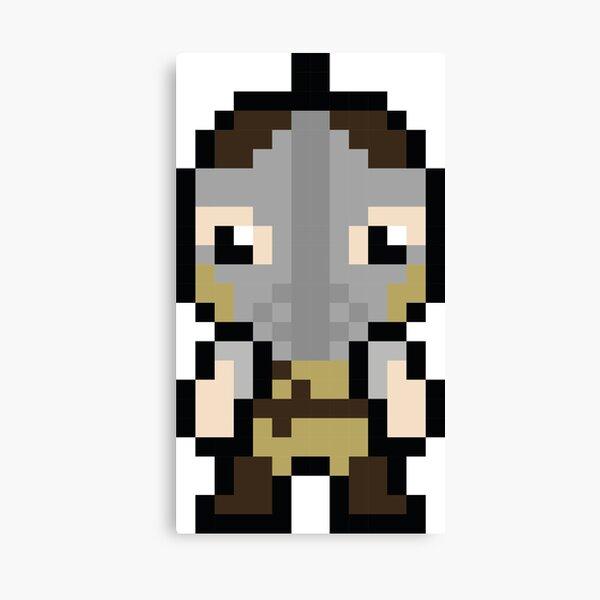 Whiterun Guard Pixel Sprite Canvas Print