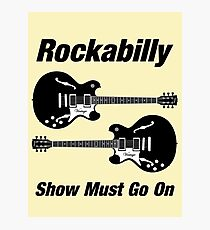Rockabilly Show   Black Photographic Print