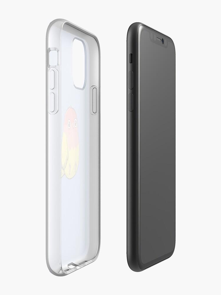 Alternate view of Cute Lutino Lovebird Chubby Bird Design iPhone Case & Cover