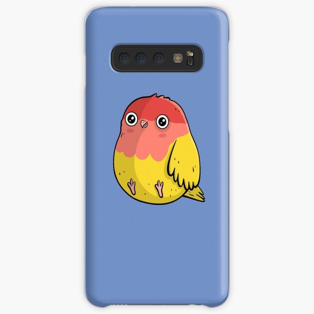 Cute Lutino Lovebird Chubby Bird Design Case & Skin for Samsung Galaxy