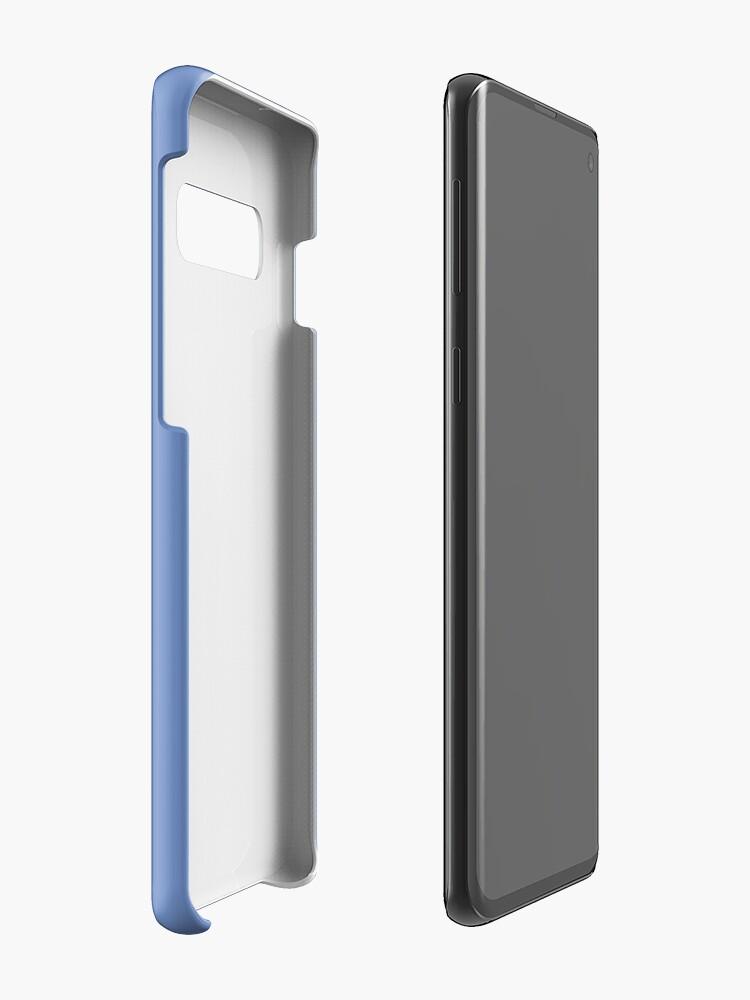 Alternate view of Cute Lutino Lovebird Chubby Bird Design Case & Skin for Samsung Galaxy