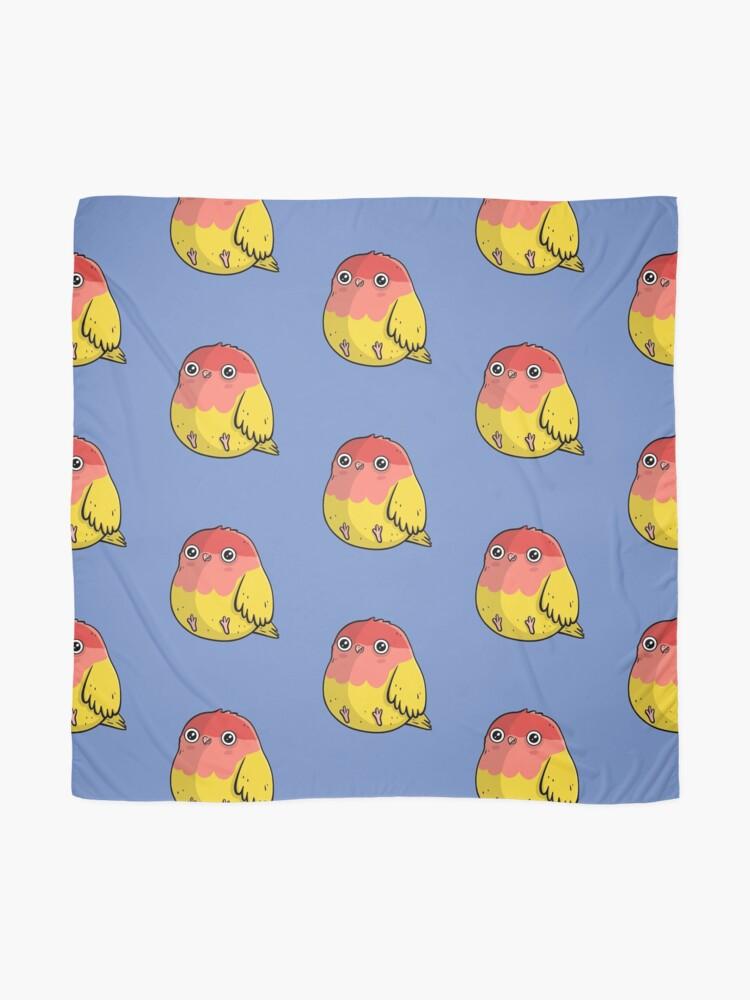 Alternate view of Cute Lutino Lovebird Chubby Bird Design Scarf