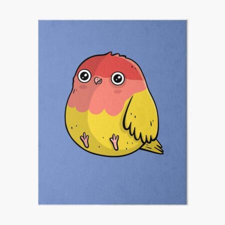 Dicker Vogel Pfirsichköpfchen Design Galeriedruck