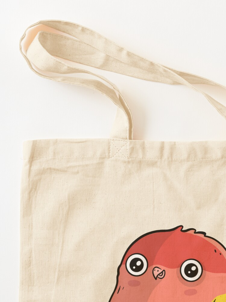 Alternate view of Cute Lutino Lovebird Chubby Bird Design Tote Bag