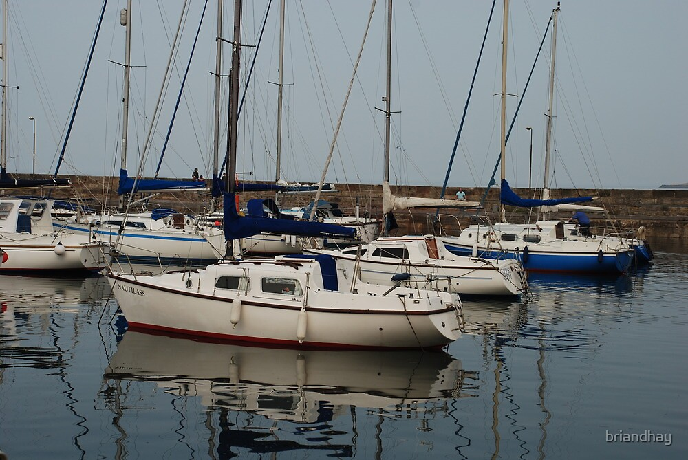 Fisherrow harbour reflections #2 by briandhay