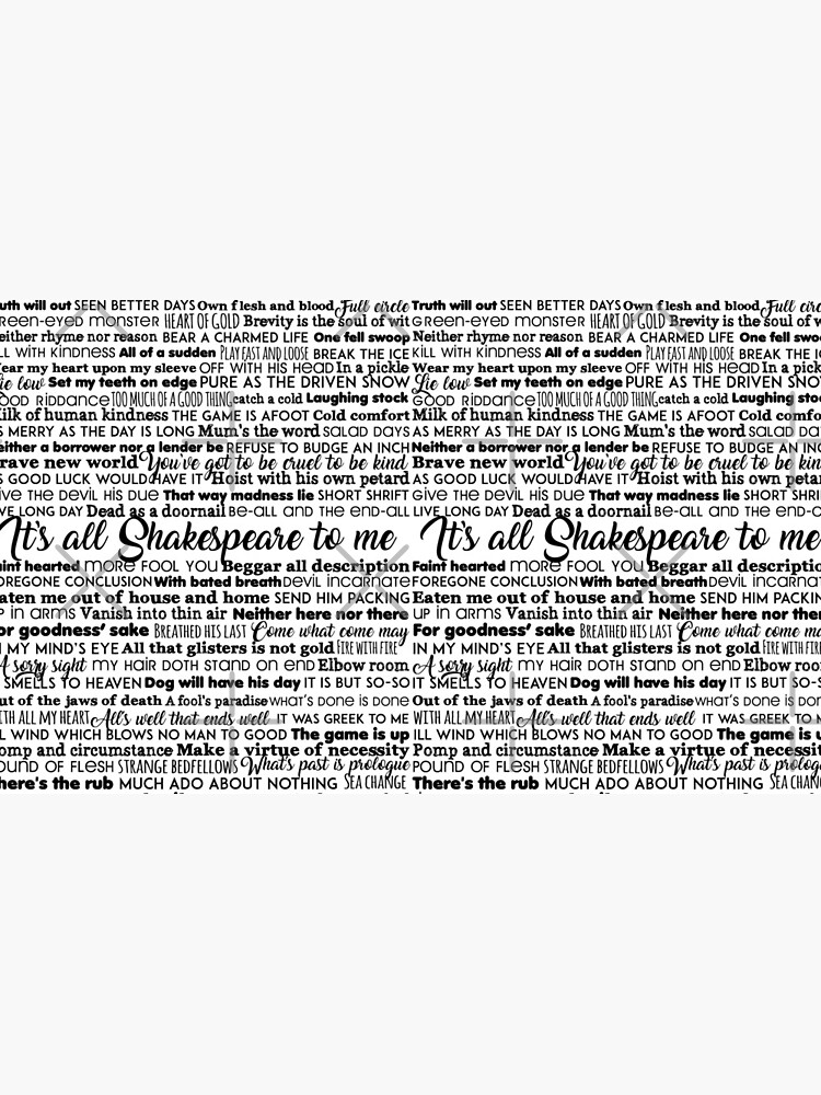 It's all Shakespeare To Me (Dark Version) by incognitagal