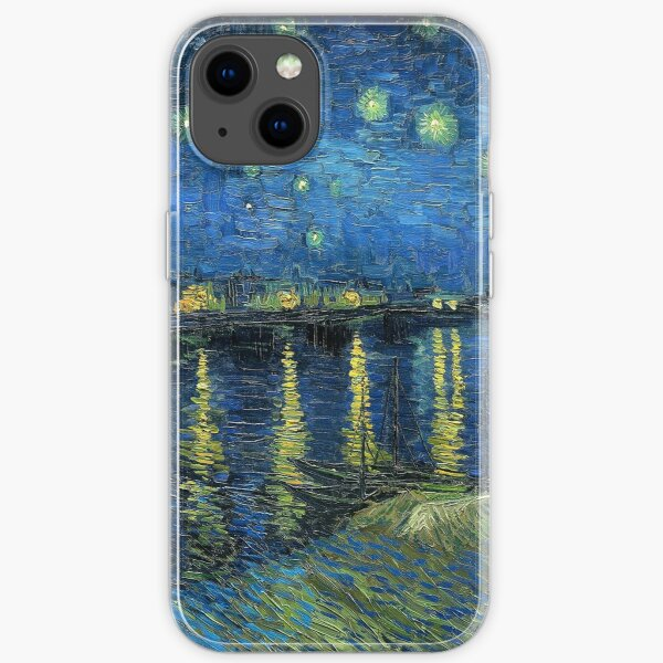 Painting Starry night over the Rhône by Vincent van Gogh iPhone Soft Case