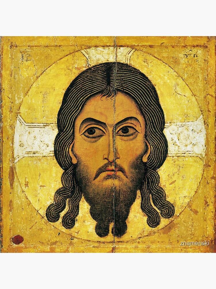 «Спас Нерукотворный» — новгородская икона XII века. The Saviour Not Made by Hands, a Novgorodian icon from c. 1100 by znamenski