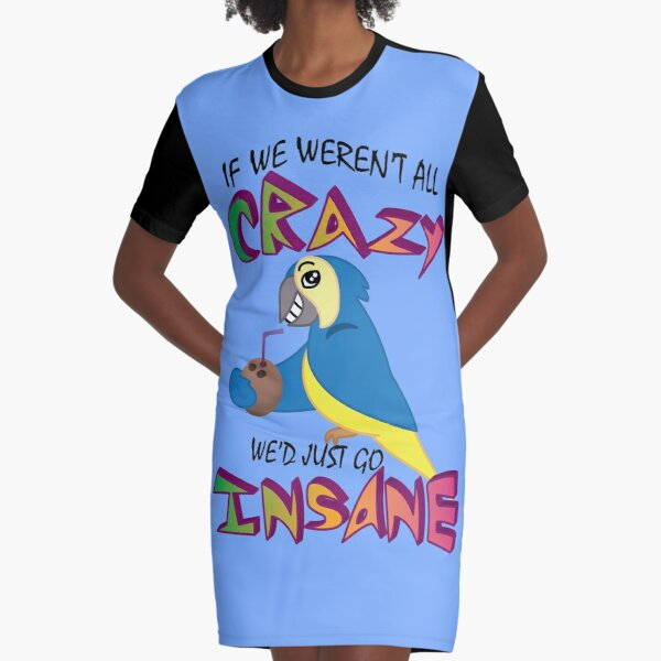 Jimmy Buffet Parrothead Graphic T-Shirt Dress