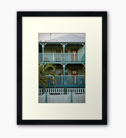 The sea-green house by the sea-green sea Framed Print