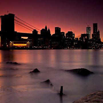Brooklyn Bridge & Manhattan Skyline by CraMation
