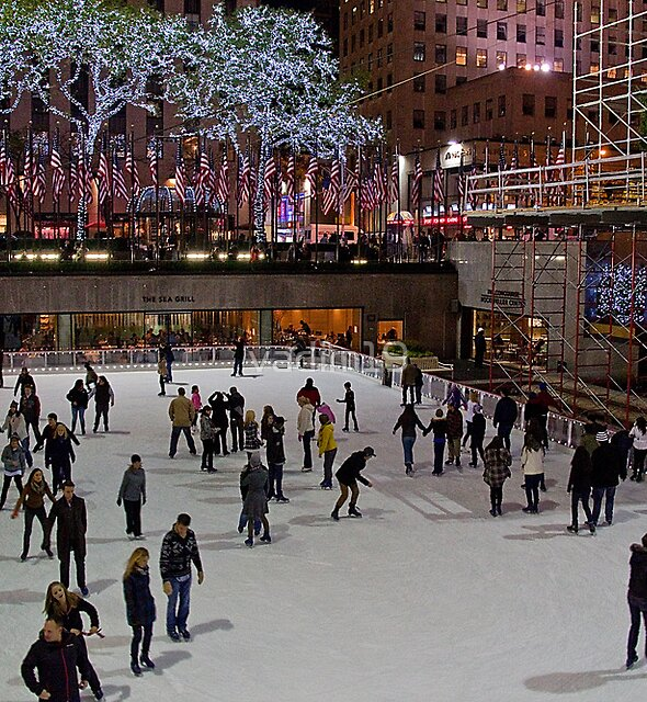 USA. New York. Skating Rink at Rockefeller Center. by vadim19