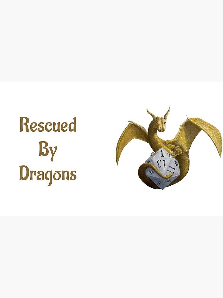 Bronze Dragon On Silver D20 by RescuedByDragon