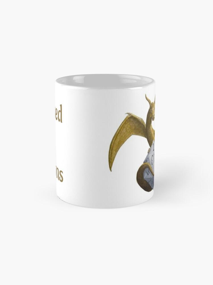 Alternate view of Bronze Dragon On Silver D20 Mug