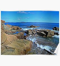 Rush of Tide at Thunder Hole Poster