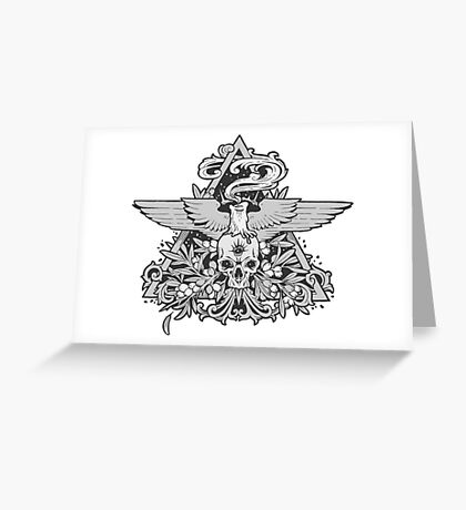- Skull and Candle - Greeting Card