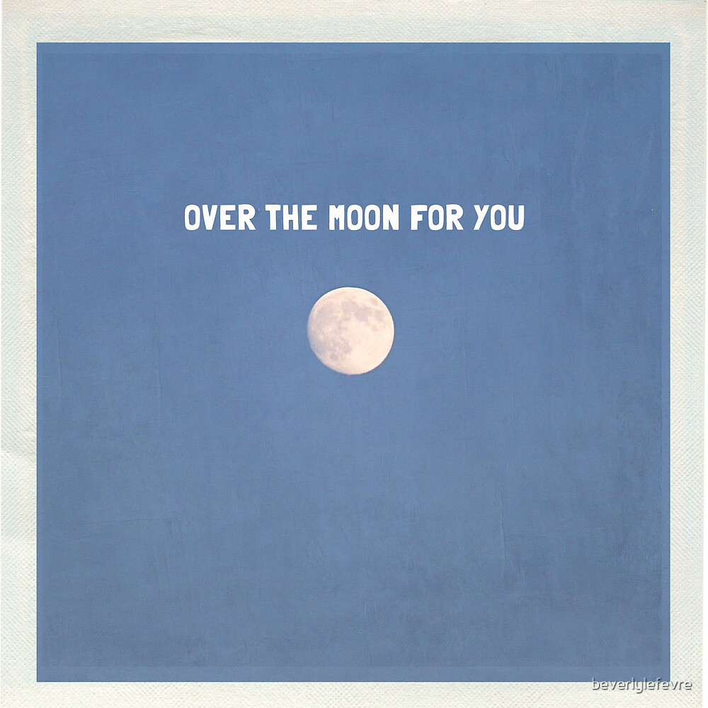 over the moon for you by beverlylefevre