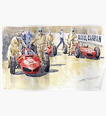 Monaco GP 1961 Ferrari 156 Sharknose Poster