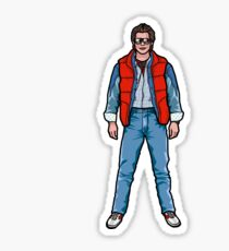 NOW IS THE FUTURE - Marty Mcfly 1985 Sticker