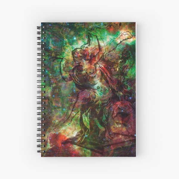 When The Stars Are Right - The Heart and Soul Nebulae in Cassiopeia Spiral Notebook
