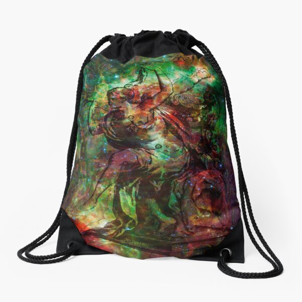 When The Stars Are Right - The Heart and Soul Nebulae in Cassiopeia Drawstring Bag