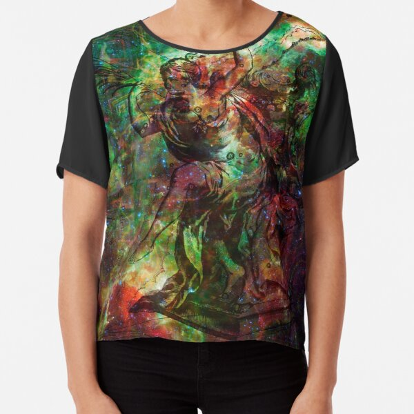 When The Stars Are Right - The Heart and Soul Nebulae in Cassiopeia Chiffon Top