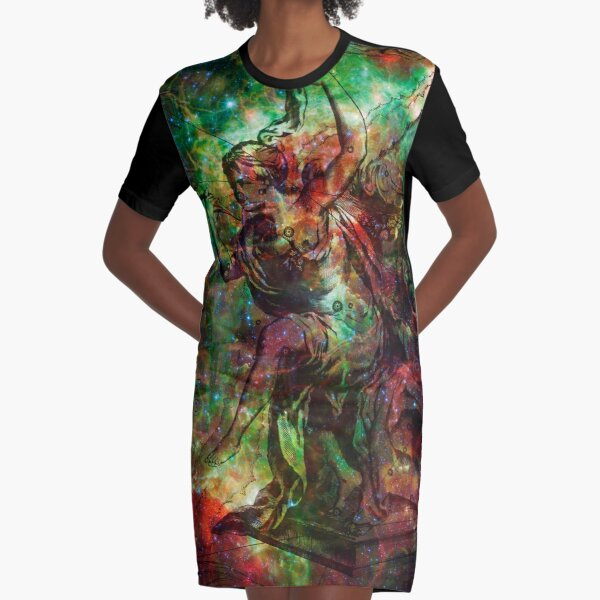 When The Stars Are Right - The Heart and Soul Nebulae in Cassiopeia Graphic T-Shirt Dress