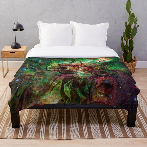 When The Stars Are Right - The Heart and Soul Nebulae in Cassiopeia Throw Blanket