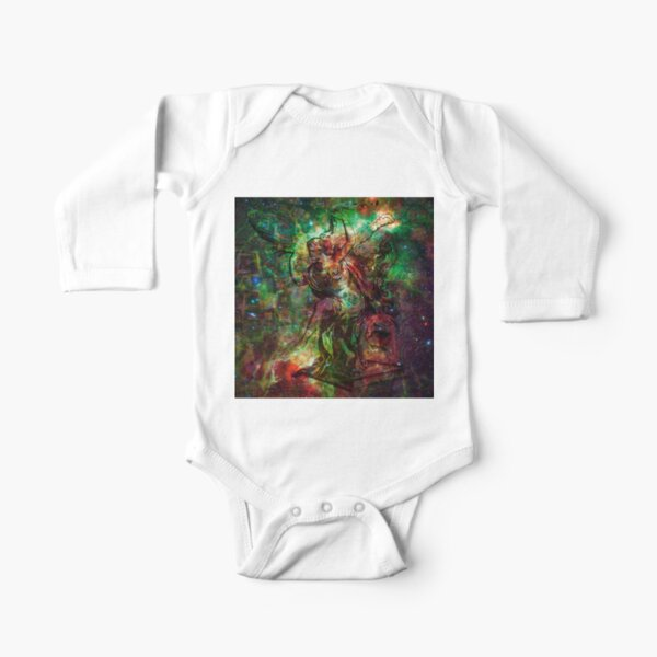 When The Stars Are Right - The Heart and Soul Nebulae in Cassiopeia Long Sleeve Baby One-Piece