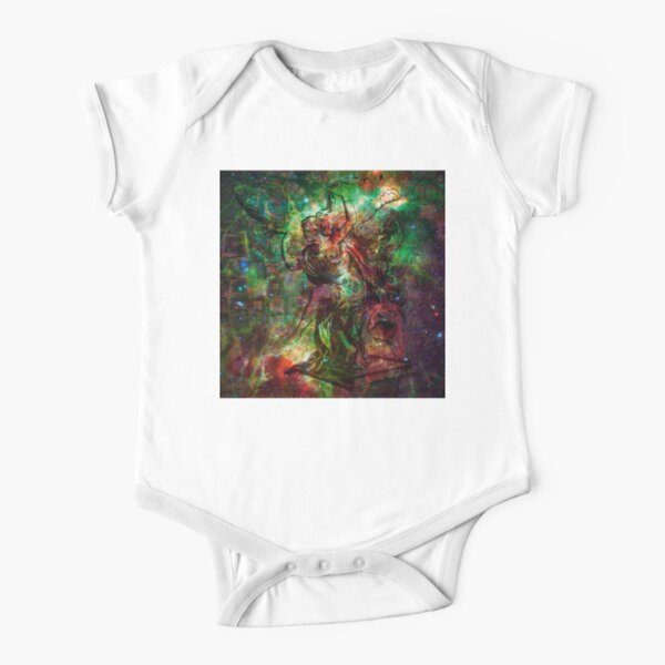 When The Stars Are Right - The Heart and Soul Nebulae in Cassiopeia Short Sleeve Baby One-Piece