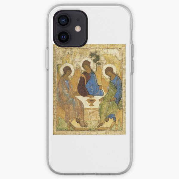 Holy Trinity, Hospitality of Abraham; by Andrei Rublev; tempera on panel; Tretyakov Gallery (Moscow) iPhone Soft Case