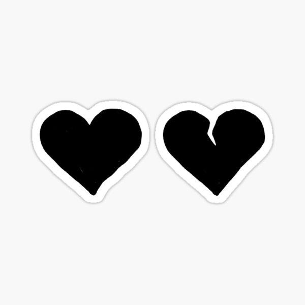 YUNGBLUD Black Hearts Club Simple Sticker
