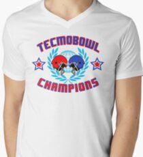 TECMO CHAMPIONS Men's V-Neck T-Shirt