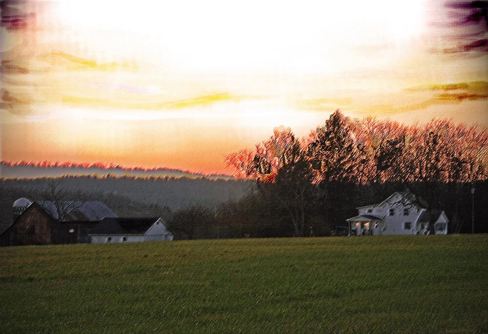A Farm Aglow by Geno Rugh