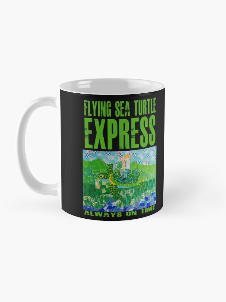 Alternate view of Flying Sea Turtle Express Departs Vancouver on Schedule Mug