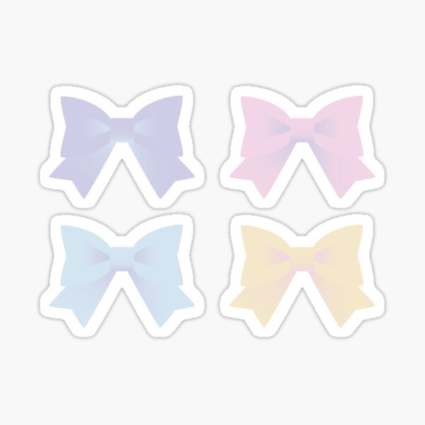 Pastel Ribbons Sticker