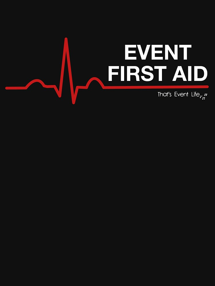Event Medicine First Aid ECG Style (White/Red) by ThatsEventLife